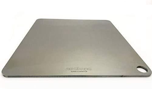 na Chapa - Pedra refratária de aço para assar pizza e pão em forno residencial - 40x35,5cm (Original 6mm)