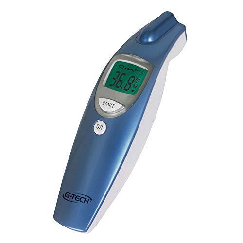 Termômetro Clínico G-Tech Digital de Testa sem Contato - Medição da Temperatura Corpórea, Ambientes e Superfícies, G-Tech