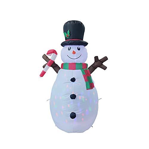 Yuanhong Boneco de neve inflável de 1,6 m com luzes LED embutidas para decoração de jardim e Natal