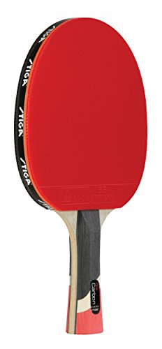 STIGA Raquete de tênis de mesa de nível de desempenho Pro Carbon com tecnologia de carbono para jogar torneios