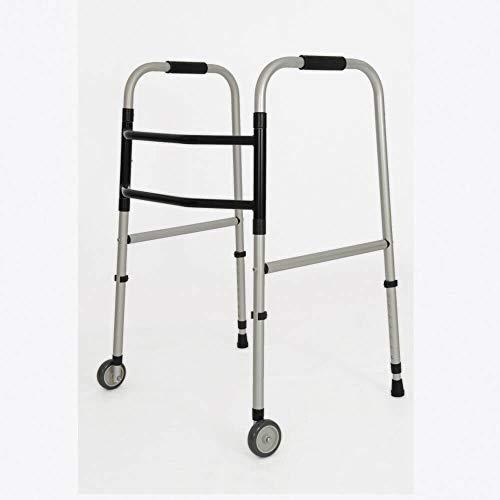 Andador Adulto Indaiá de Alumínio Com Rodas Dobrável Fixa - Cód. 0000334-ANPR/ADU