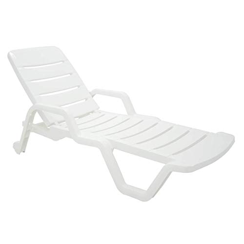 Cadeira Plástica Espreguiçadeira Tramontina, Leblon, Branco - 92256010