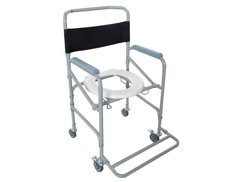 Cadeira de Banho Dobrável em Aço para 100 kg modelo D40 - Dellamed
