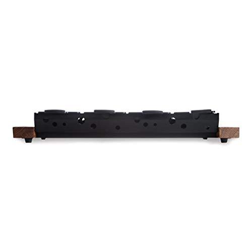 BOSKA Partyclette XL, conjunto de raquete com luz de chá com 8 panelas, madeira de carvalho europeia