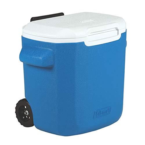 Caixa Térmica com rodas 16QT, 22 Latas, Coleman, Azul