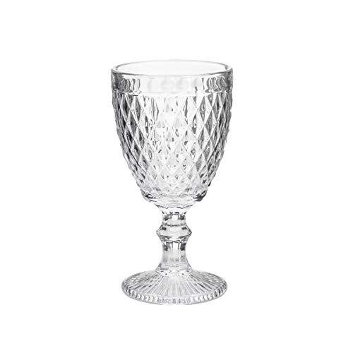 Conjunto Deunto 6 Taças para Vinho Bico de Abacaxi Lyor Transparente 265 ml Vidro