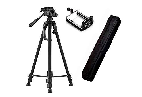 Tripe Universal 1,70 preto para Câmeras Fotográficas com suporte para celular