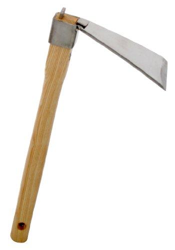 Zenport Enxada forjada J602, cabeça da lâmina de aço inoxidável de 8,25 cm x 15 cm