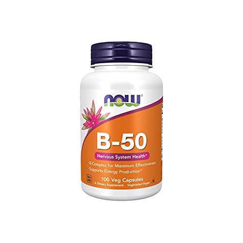NOW Foods - Saúde do sistema nervoso da vitamina B50-100 cápsulas vegetais