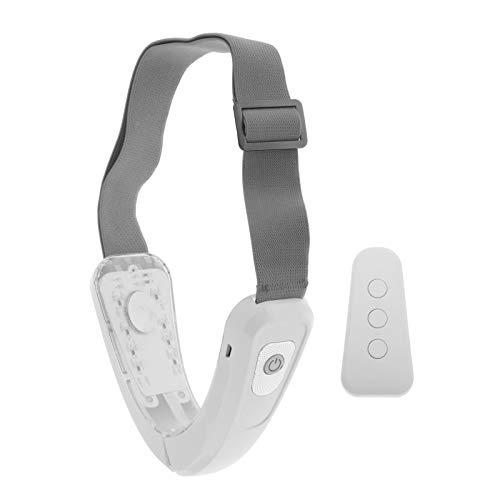 Almencla V Linha-Face Lifting Emagrecimento Massageador, Massageador Microcorrente Elétrica Dupla Elevação do Queixo Mais Magro Máquina Dispositivo de Aperto - Branco