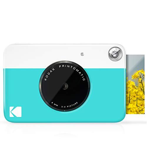 KODAK Printomatic Câmera com Impressão Instantânea Digital – Impressões coloridas em ZINK 5 x 7,6 cm Papel fotográfico com verso adesivo (azul) Impressão de memórias instantaneamente