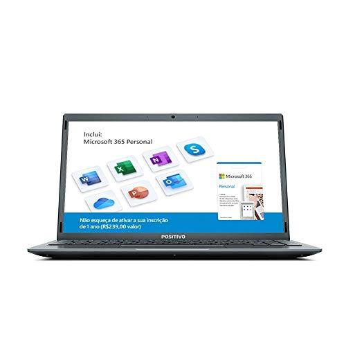 Notebook Positivo Motion Q4128C Intel® Atom® Quad-Core™ Windows 10 Home 14.1