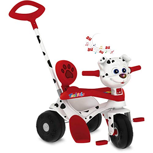 Triciclo Tonkinha Doggy Passeio E Pedal Brinquedos Bandeirante Multicor