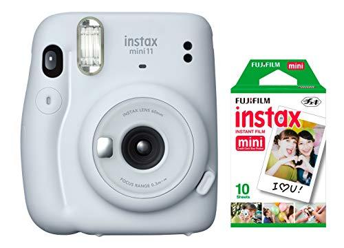 Câmera instantânea Fujifilm Instax Mini 11 Branca + Filme Instax com 10 poses
