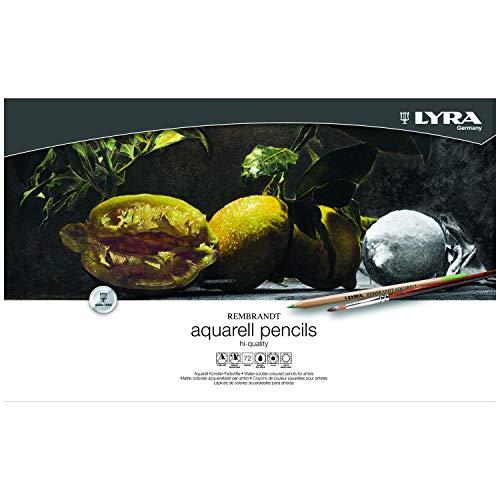 Estojo Metal Lápis Aquarelável Lyra Rembrandt Aquarell com 72 cores
