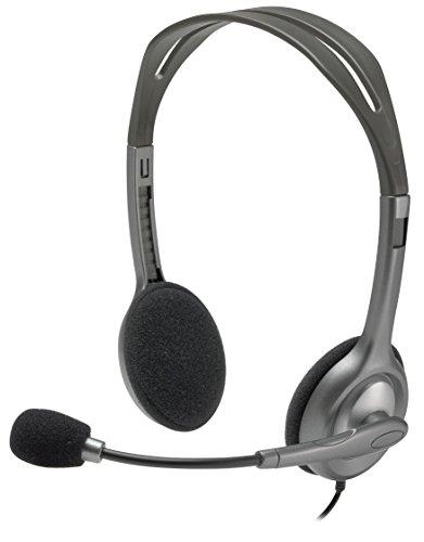 Headset com fio Logitech H111 com Microfone com Redução de Ruído e Conexão 3,5mm
