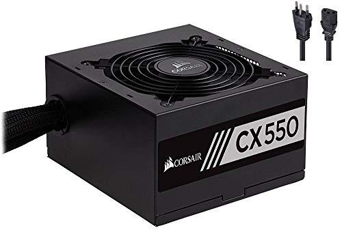 Fonte Corsair 550W 80 Plus Bronze CX550 - CP-9020121-BR