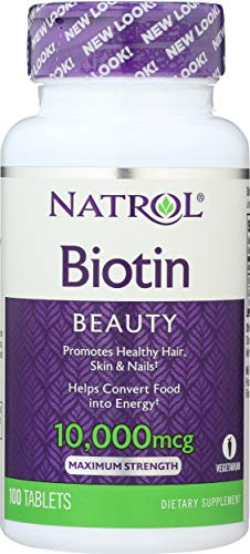 Biotina Vitamina 10000 mcg (100 Tablets) - Natrol