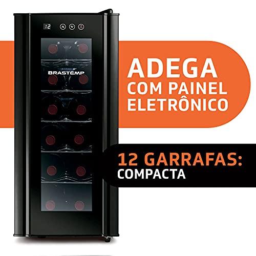 Adega Brastemp 12 Garrafas com painel touch - BZC12BE 220V