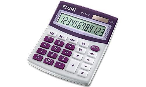 Calculadora Elgin com 12 dígitos, duplo zero MV-4127 Roxa, Elgin, 42MV41270000, Roxa