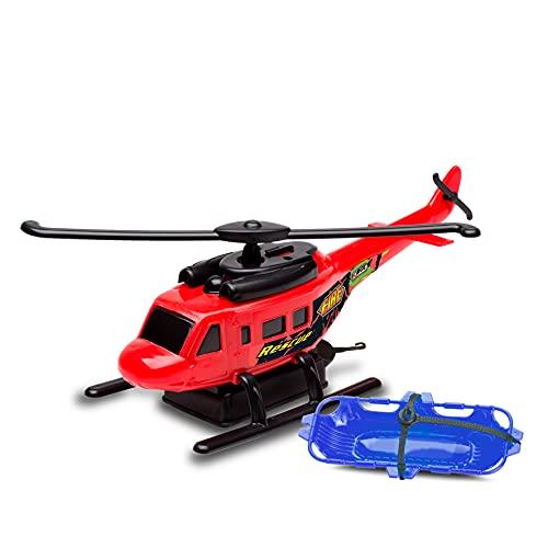 Helicóptero Fire Force com Fricção Cardoso Vermelho