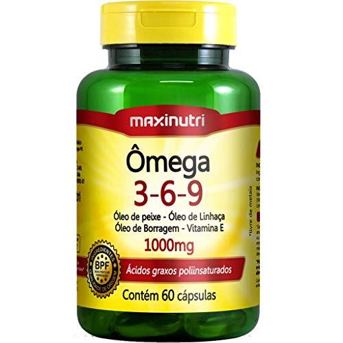 Ômega 3-6-9 (Peixe/Linhaça/Borragem/Vit. E) 1000Mg - 60 Cáps., Maxinutri