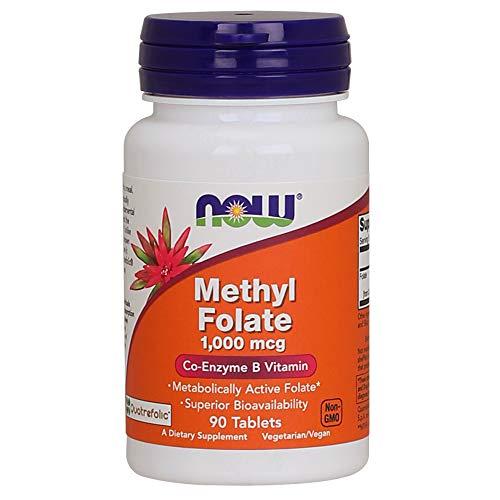 Metilfolato (Methyl Folate) 1000mg 90 Tabletes - Now