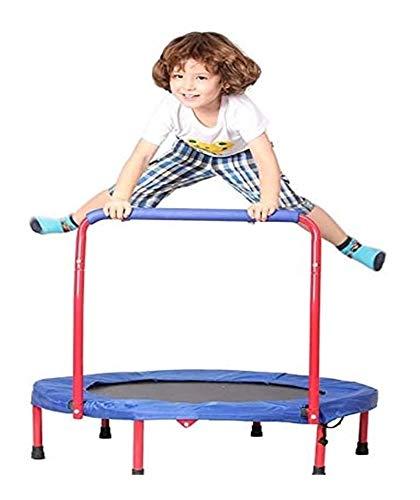 ZLSP - Trampolim infantil pequeno disponível, com apoios de braços, mini trampolim elástico dobrável interno/externo F