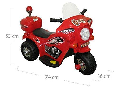 Mini Moto Elétrica Infantil Triciclo Elétrico BZ Cycle Vermelho com Músicas e Luzes BARZI MOTORS
