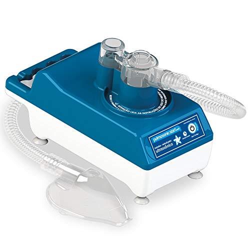 Inalador/Nebulizador Ultrassônico Pulmosonic Star Luxo II, Soniclear, Azul/Branco