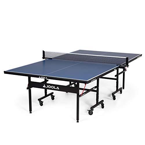 JOOLA Interior – Mesa de tênis de mesa interna de MDF profissional com suporte rápido e rede de pingue-pongue – Montagem fácil de 10 minutos – Mesa de pingue-pongue com modo de reprodução único