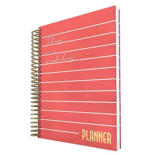 Planner Vermelho A5 com 96 folhas Personalizadas, DAC, Planner Vermelho A5 com 96 folhas Personalizadas 3043, Vermelho