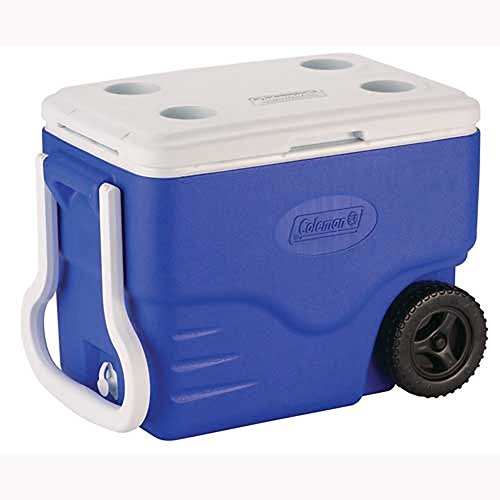 Caixa Térmica com Rodas 38 Litros 110162400718 Azul - Coleman