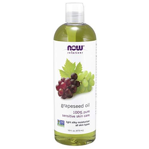 Now Foods – óleo de semente de uva da Now Solutions para cuidados com a pele sensível, Basic, 16 Fl Oz (Pack of 1)