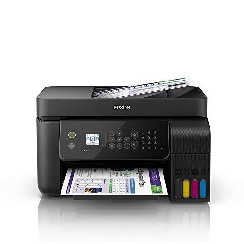 Multifuncional Epson EcoTank L5190 - Tanque de Tinta Colorida, Wi-Fi Direct, Ethernet, Fax, ADF, Bivolt