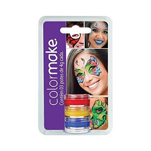 Yur 1, Pintura Facial, Cremosa 3 Cores Cartela com 03, Multicor