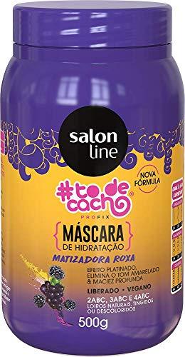 Máscara Matizadora Capilar #todecacho Liberado Salon Line, 500g, Salon Line, Salon Line, Roxa