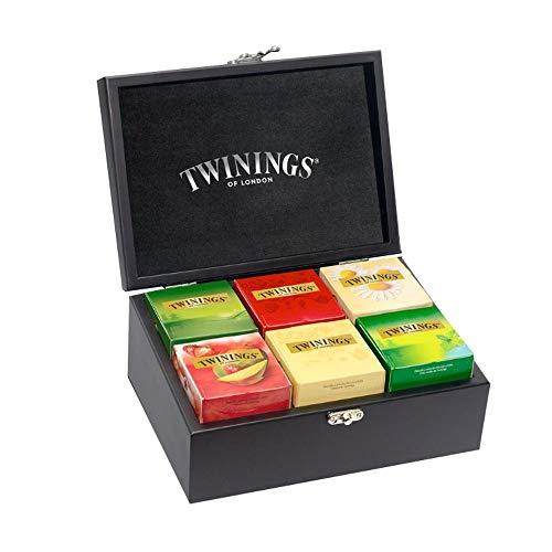Caixa de Madeira para Chás com 60 saches Twinings