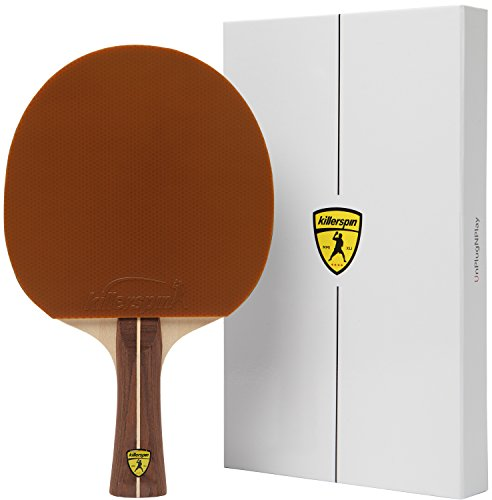 Raquete de tênis de mesa Killerspin Jet 200, raquete de tênis de mesa com lâmina de madeira, bolas de pingue-pongue, estojo de armazenamento, caixa de presente, livro de memórias – Mocha (110-14)