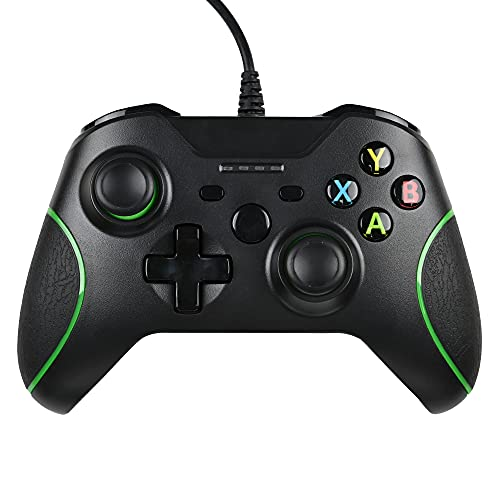 Controle Zamia para Xbox One, controle melhorado com fio para Microsoft Xbox One/X/S/Elite (preto)
