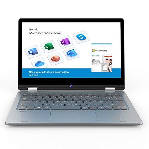 Notebook 2 em 1 Positivo Duo C4128C Intel Celeron 4GB 128GB 11.6