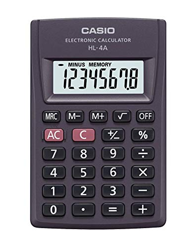 Calculadora de Bolso 8 Dígitos, Casio, 56740, Preto