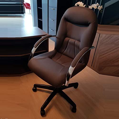 Cadeira Escritório Day Presidente CompreAlegre Giratória Reclínio Marrom Café
