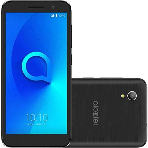 Smartphone Alcatel 1 5033J 8GB Desbloqueado Preto - Android 8.0 Oreo. Tela 5 . Câmera 16MP. Dual Chip