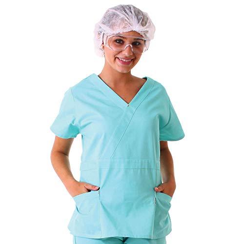 Pijama Cirúrgico Feminino – Scrub Calça e Camisa (GG, Azul Marinho)