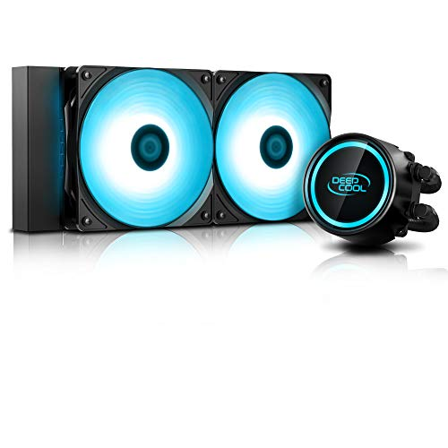 Water Cooler 240mm Gammaxx L240 V2 RGB Intel e AMD 2 Fan 12CM Mangueiras de Nylon - DP-H12RF-GL240V2, DEEPCOOL