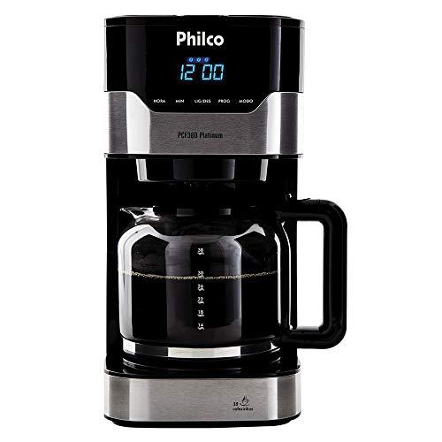 Cafeteira, PCFD38 Platinum, 38 xicaras, Preto, 110V, Philco