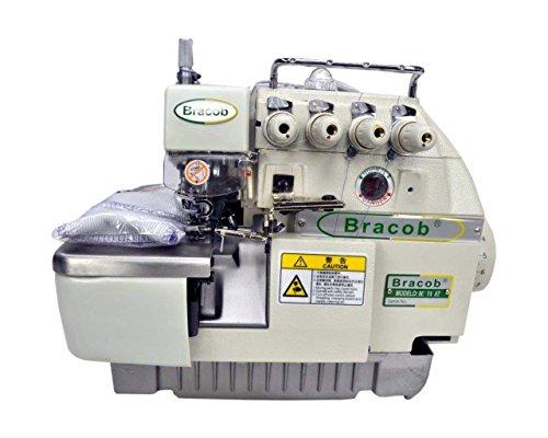 Máquina Industrial Overlock c/ Direct Drive, 2 Agulhas, 4 Fios, 6000rpm BC74-AT - BRACOB (220)