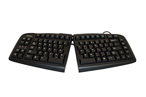 Goldtouch GTN-0099 V2 Teclado ergonômico ajustável - Somente PC (USB e PS2) Preto
