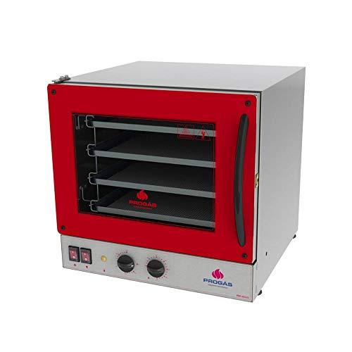 Progás, P37639, Forno de Elétrico Industrial Pirogas Para Pizza 4 Assadeiras 220 Volts, cor Inox, Aço